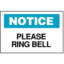 Notice, Please Ring Bell