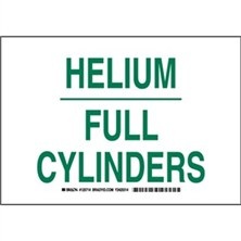 Helium Full Cylinders Signs