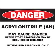 Danger Acrylonitrile (AN) May Cause Cancer Signs