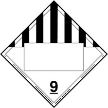 Miscellaneous Dangerous Goods Blank Placards