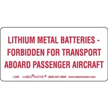 Lithium Metal Batteries Markings
