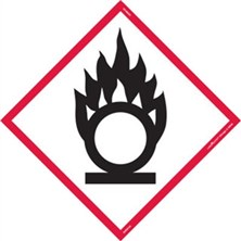 GHS Flame Over Circle Pictogram Tank Placards