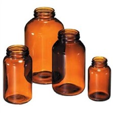 Amber Round Wide Mouth Bottles