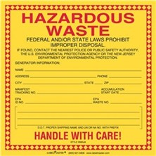 New Jersey Waste Labels