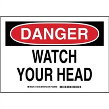 Danger - Watch Your Head Signs