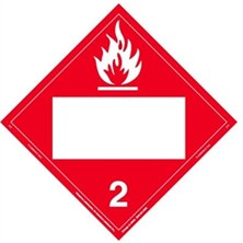 Flammable Gas Blank Placards
