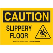 Caution - Slippery Floor (With Picto) Signs