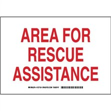 Area For Rescue Assistance Signs