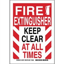Fire Extinguisher Keep Clear At All Times Signs