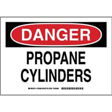 Danger - Propane Cylinders Signs