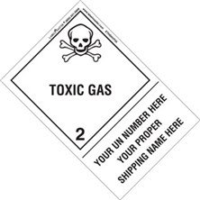 Personalized Shipping Name Toxic Gas Labels