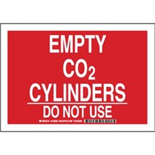 Empty Co2 Cylinders Do Not Use Signs