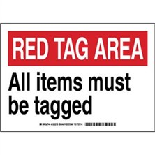 Lean - All Items Must Be Tagged Signs