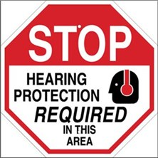 Stop Hearing Protection Required In This Area Signs