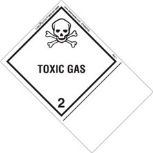 Blank Shipping Name Toxic Gas Labels