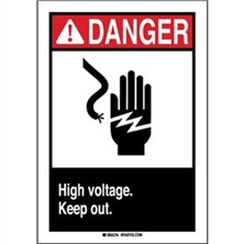 Ansi Danger, High Voltage Keep Out