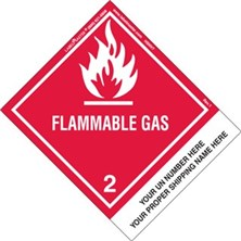 Personalized Shipping Name Flammable Gas Labels