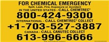 CHEMTREC Rail Tanker Emergency Vehicle, Truck & Phone Markings