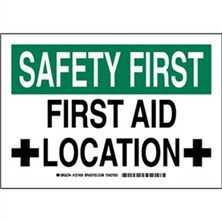 Safety First - First Aid Location Signs