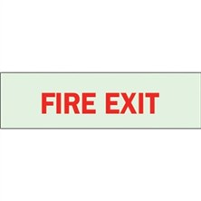 Fire Exit (Red, Glow-In-The-Dark)