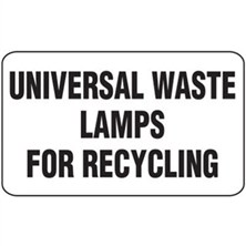 Universal Waste Lamps for Recycling Labels