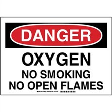 Danger - Oxygen No Smoking No Open Flames Signs