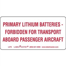 Primary Lithium Batteries Markings
