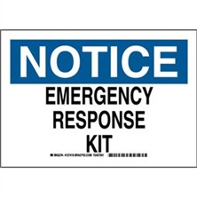 Notice - Emergency Response Kit Signs