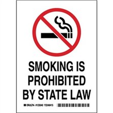 Smoking Is Prohibited By State Law Signs