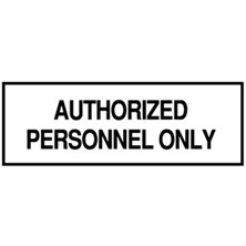 Authorized Personnel