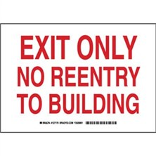 Exit Only No Reentry To Building Signs