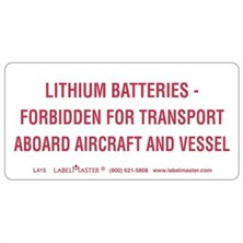 Lithium Batteries Markings