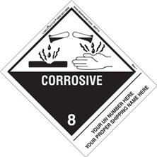 Personalized Shipping Name Corrosive Labels
