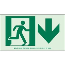 Running Man Picto Only (With  Down Arrow) Signs