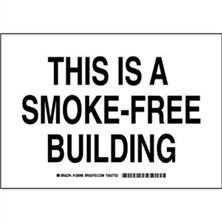 This Is A Smoke-Free Building Signs