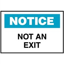 Notice, Not An Exit