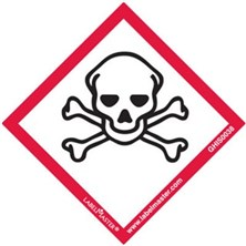 GHS Skull And Crossbones Pictogram Labels