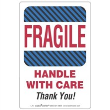 Fragile Handle with Care Thank You Labels