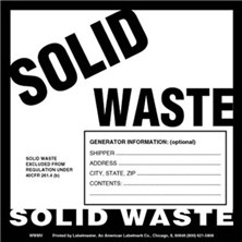 Solid Waste Labels