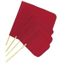 "Warning Flags with 3/4"" x 30"" Flag Staff"