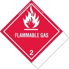 Blank And Pre-Printed Shipping Name Flammable Gas Labels