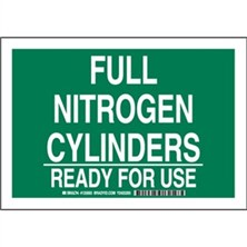 Full Nitrogen Cylinders Ready For Use Signs