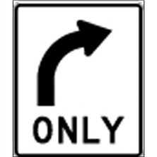 Right Turn Only Symbol