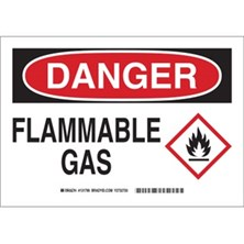Danger - Flammable Gas (With  Ghs Picto) Signs