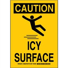 Caution - Icy Surface Signs