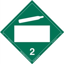 Non-Flammable Gas Blank Placards