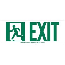 Exit With Running Man Signs