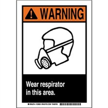 Warning - Wear Respirator In This Area Signs