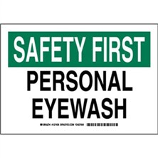 Safety First - Personal Eyewash Signs