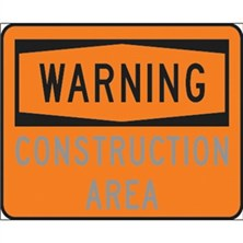 Warning Construction Area